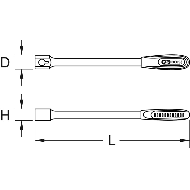 KS Tools 516.4895 14x18mm ERGOTORQUEplus Universal-Einsteck-Schl/üssel