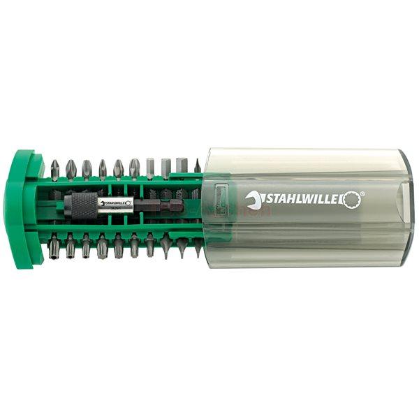 Stahlwille 1202 Bit-Box-Set Premium Bits, 21-teilig, für elektronische Bohrmaschinen