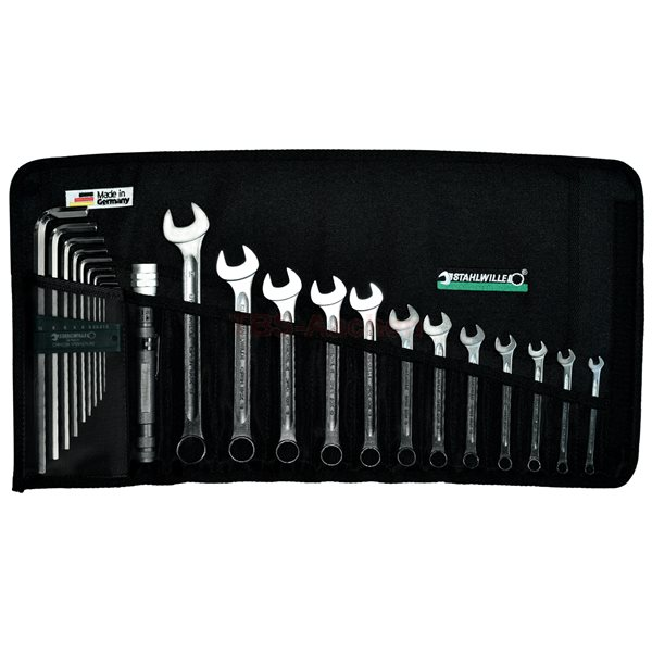 Stahlwille 13/22 Tool set in roll-up wallet, 22-pcs