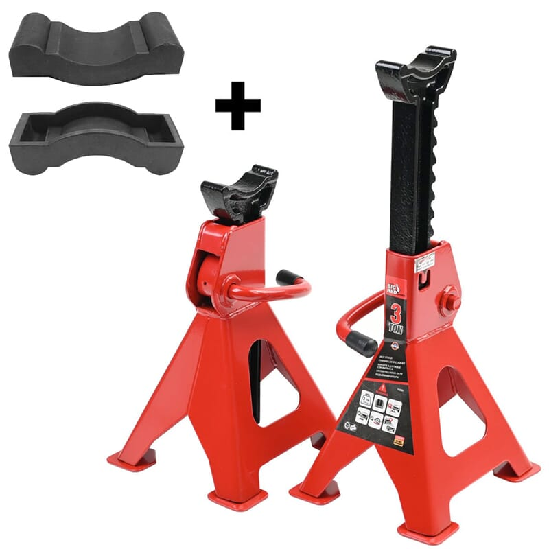jack stand, 1 pair, 3TON + 1 pair rubber protection
