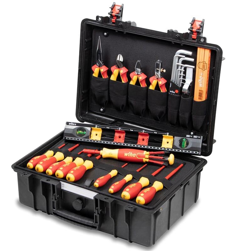 Wiha 44505 Tool case basic set L electric, 34-pcs